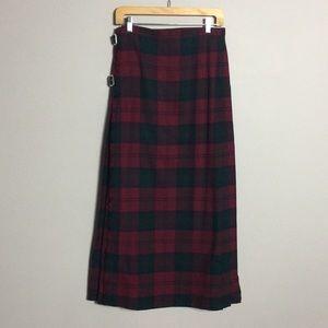 Burberry • Vintage Tartan Plaid Maxi Skirt